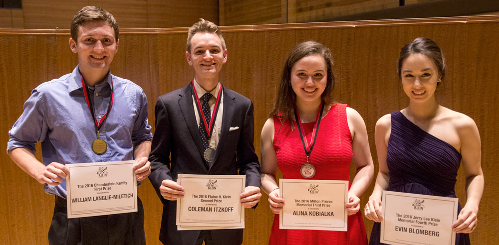 2016 Klein Competition Winners