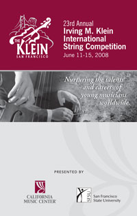 2008 Klein Competition Program