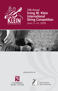 2009 Klein Competition Program